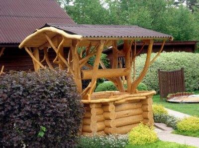 Колодец в деревянном стиле