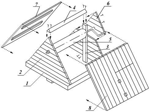 схема колодезного домика