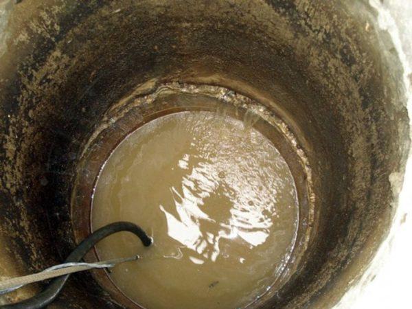 грязная вода в колодце